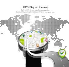 Pedometer Map X200 3g Android Smart Watch Phone Black