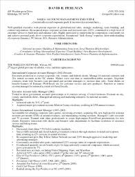 advertising account manager resume objective example executive