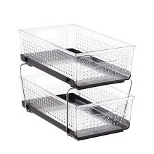 2 tier cabinet organizer madesmart 2 tier divided cabinet organizer the container store