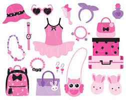 girl accessories fashion clipart etsy
