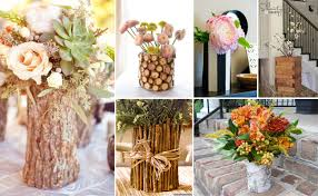 Birch Bark Vases Diy Flower Vases Fiftyflowers The Blog