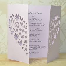 Laser Cut Invitation Cards Heart Laser Cut Gatefold Wedding Invitation By Sweet Pea Design