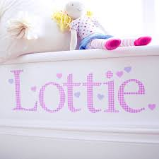 personalised pink gingham wall letter sticker by kidscapes personalised pink gingham wall letter sticker