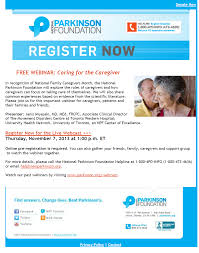 parkinson foundation offers free webinar on caring for the