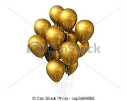 gold balloons gold balloons isolated on white 3d gold air balloons stock