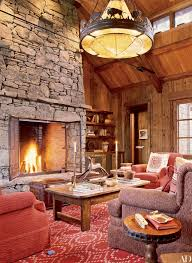 rustic stone fireplaces 7 homes with rustic stone fireplaces photos architectural digest