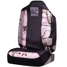front car truck suv bucket seat covers realtree pink logo