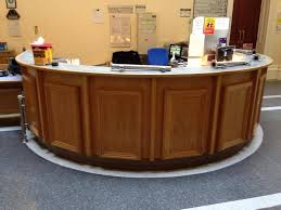Round Reception Desk by Add On To Old Reception Desk