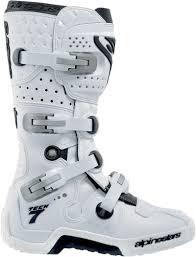 white motorbike boots alpinestars tech 7 offroad motorcycle boots white