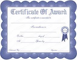award certificate sogol co