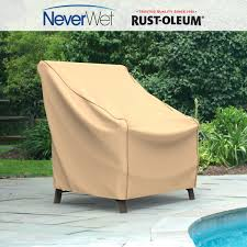 Plastic Patio Chair Covers by Medium Outdoor Chair Cover Rust Oleum Neverwet Empirepatio