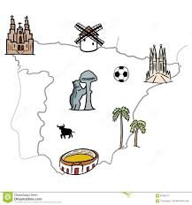 Madrid Spain Map Spain Map Stock Vector Image 73365784