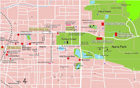 Blossom Music Center Map Nara Map Printed Japan Travel Tips U0026 Info Pinterest Nara