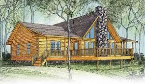 peacock log home plan by log homes of america