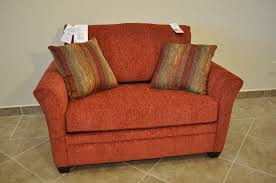 Red Loveseat Loveseat Sleeper Sofa With Red Fabric Cover And Cushion With