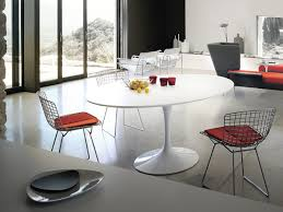 kitchen classy tulip dining table oval lifestyle white laminate