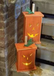 Halloween Lighted Pumpkin Decorations by Diy Wood Lighted Pumpkin Decoration Woodworking Wood Projects