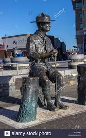 Robert Baden Powell Sculpture Of Robert Baden Powell On Poole Quay Dorset Uk Europe