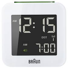 buy braun radio controlled travel global alarm clock john lewis