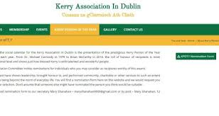 Seeking Dublin Kerry Association In Dublin Seeks Nominations For Awards
