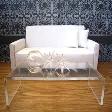 Acrylic Cocktail Table Articles With Waterfall Coffee Table Wood Tag Wonderful Waterfall