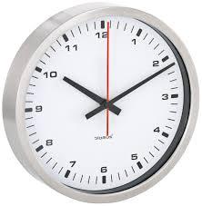 amazon com blomus wall clock white 24 centimeters home u0026 kitchen