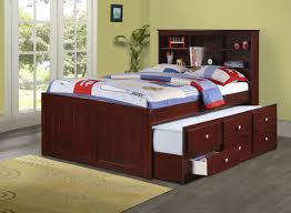 Full Size Beds With Trundle Donco Trading Company Dark Cappucino Full Bookcase Captain U0027s Bed