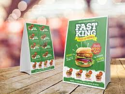 Table Tents Template Fast Food Table Tent Menu Template Free Download Freebiesjedi