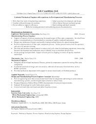 Sample Resume For Software Engineer Experienced Engineer Resume Cv Template Senior Mechanical Engineer Resume