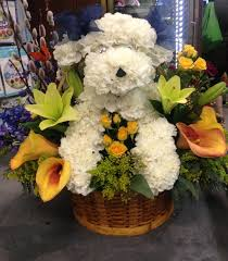 dog flower arrangement we dogs we flowers we dogs made out of flowers