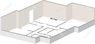 3d floorplan with exterior walls and layout marked as original