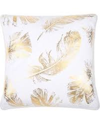 Decorative Pillow Sale Amazing Deal On Flynn Foil Print Feather Fill Square Throw Pillow