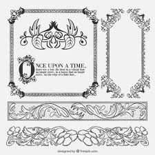 tale floral ornaments vector free