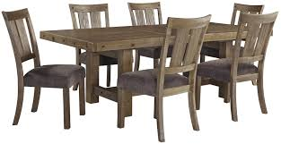 7 piece table u0026 chair set with leaf by signature design by ashley