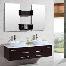 bathroom splendid brown wooden frame wall mirror sink bathroom