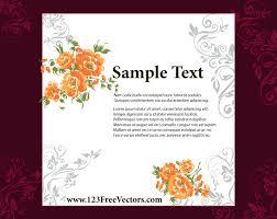 wedding invitation card design 123freevectors