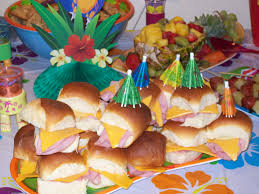 luau party appetizer ideas decorating kid u0027s birthday party with