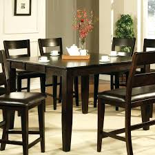 high top kitchen table with leaf espresso dining set counter height dining table in dark espresso