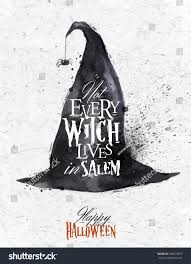 witch hat halloween poster lettering not stock vector 208479877
