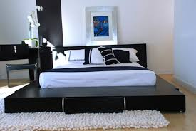 Black Or White Bedroom Furniture Bedroom Outstanding Bedroom With Creative Bed Built On Black And