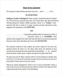 7 service contract agreement form samples free sample example