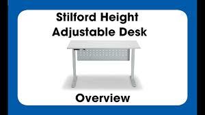 Height Adjustable Desk Electric by Stilford Electric Height Adjustable Desk Overview Youtube