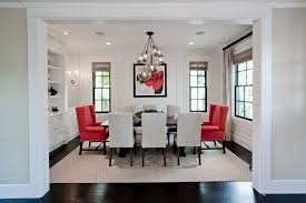 Awesome Red Accent Chairs In The Dining Room Home Design Lover - Dining room accent furniture
