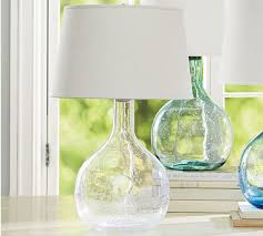 Clear Glass Table Lamp Clear Glass Lighting Pottery Barn
