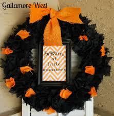 gallamore west halloween burlap u0026 chevron wreath