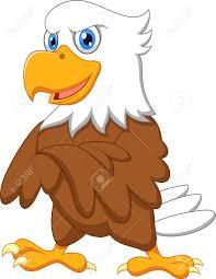 cute eagle cartoon posing royalty free cliparts vectors and