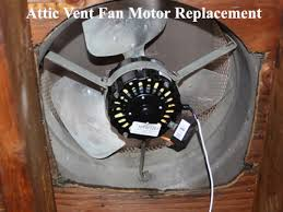 Roof Mounted Power Attic Vent Attic Fan Replacement Motor