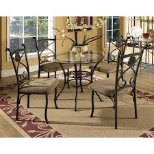 browning glass table top 5 piece dining set by greyson living