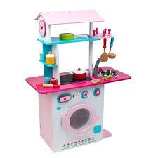 cuisine imaginarium cuisine en bois pour enfants grand chef dual kitchen pink prix