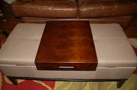 Tray Ottoman Coffee Table Thrifty Finds And Redesigns Ottoman Coffee Tables